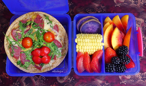Pizza Face Bento by sherimiya ♥