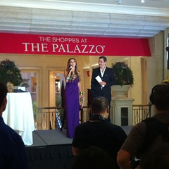 After interviewing Giuliana & Bill Rancic on the red carpet, they presented a fashion show 4 #FNO #Vegas