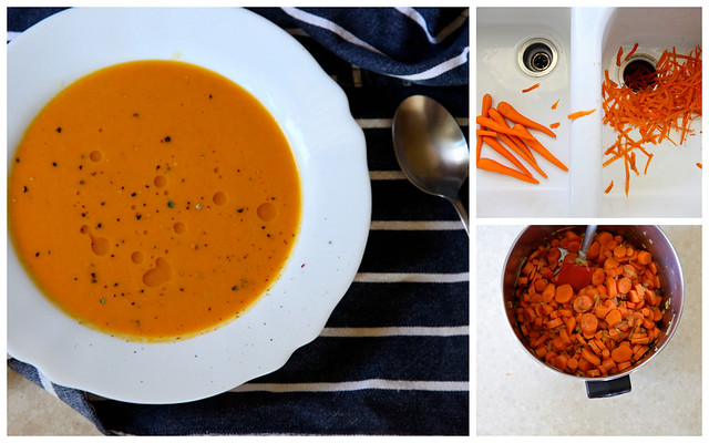 Hot Bowl of Spicy Lentil Soup with Buttered Bread Vegan Carrot ...