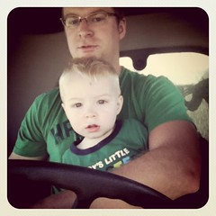 Combining with Daddy #harvest