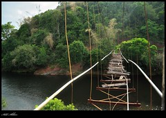The Broken Bridge (adil 555) Tags: india broken river nikon karnataka kere oldbridge sringeri