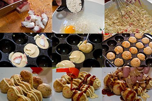 Receta de takoyaki paso a paso