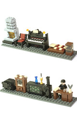 furniture (marshal banana) Tags: street city town lego western historical wildwest diorama