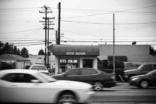 Shoe repair shop on Carson