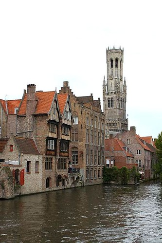 view of belfry with canal