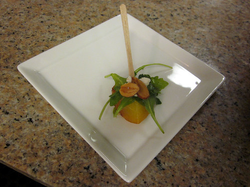 grilled peach amuse