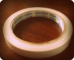 Double sided tape.