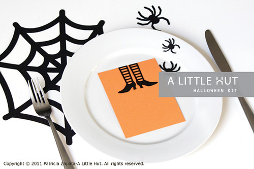 halloween - place setting