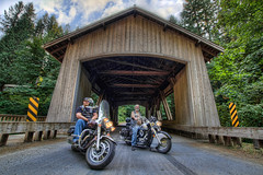 Bikers at Cedar Creek Grist Mill - HDR (David Gn Photography) Tags: trees landscape view indian scenic banjo bikes structure historic watershed motorcycle yamaha coveredbridge kelly hdr bikers cedarcreek gristmill lewisriver sundayride 3xp canoneos7d sigma1020mmf35exdchsm sigma50th