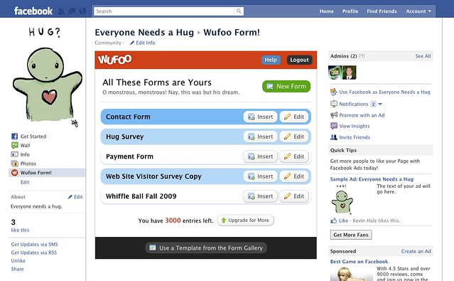 Embed Wufoo Forms on Facebook Pages with our New App | Wufoo