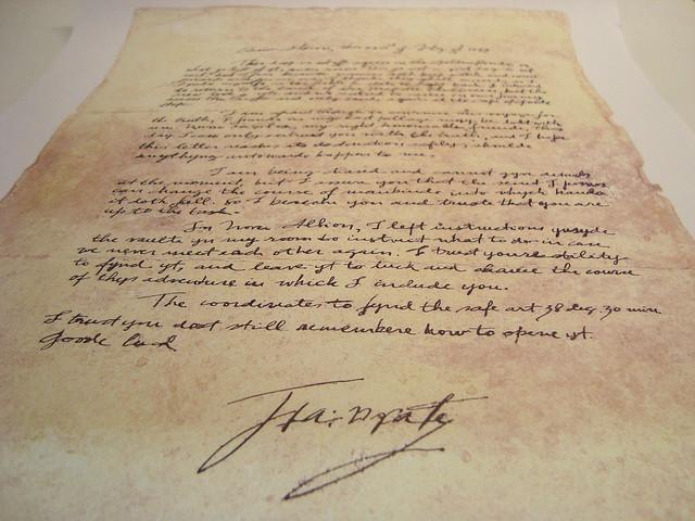 Carta de Sir Francis Drake