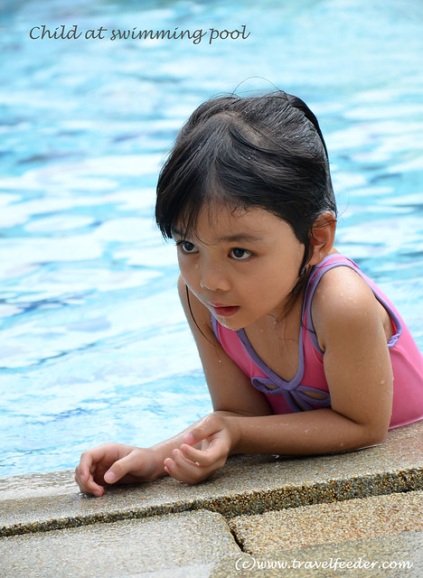 Chloe at pool