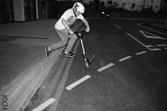 Tailwhip! (THodgsonPhotographyUK) Tags: street camera usa white black shoe mono photo dc sony tail flash scooter mount flip whip co trick alpha chromatic 290