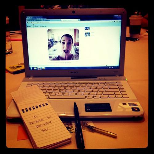I take notes at blog conferences.