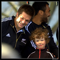 Richie McCaw and Fan