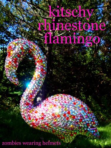 kitschy rhinestone flamingo