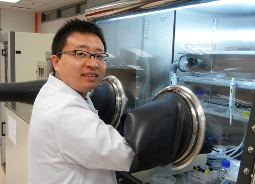 Copy of Dewei Zhao is preparing polymer layers for organic photovoltaics Courtesy of LECK KHENG SWEE