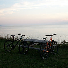 A True Picnic (MtnBkr2009) Tags: sunset beach nature outdoors lakeerie mountainbike trail mountainbiking singletrack