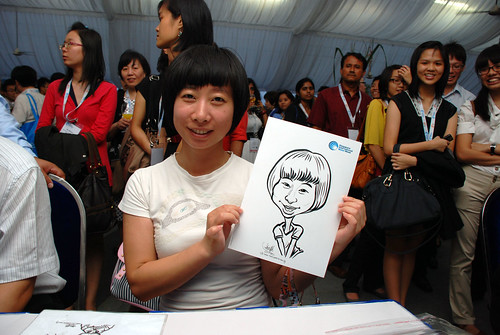 caricature live sketching for Singapore International Water Week Closing Dinner - 9