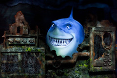 Bruce. (Todd Hurley Photography) Tags: portrait movie shark orlando epcot funny nemo florida bruce projection animation waltdisneyworld themepark findingnemo futureworld darkride fisharefriends theseas