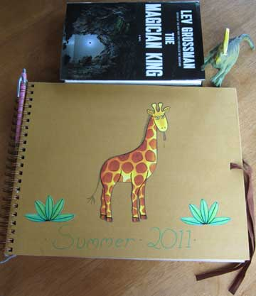 8.9.11 - My New Sketchbook is a tad large.