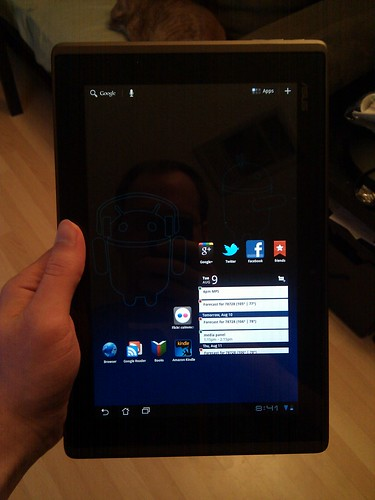My new toy, an Asus eee pad Transformer