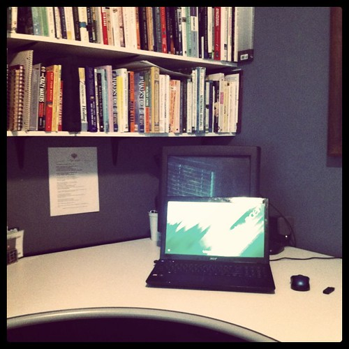 Freshly cleaned office space + quiet house = ready to write!