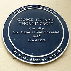 Photo of George Benjamin Thorneycroft blue plaque