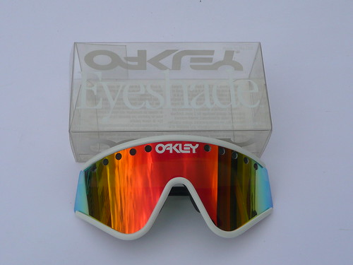 b09966c111 Oakley Eyeshade Factory Pilot Grey White+Fire Iridium vented
