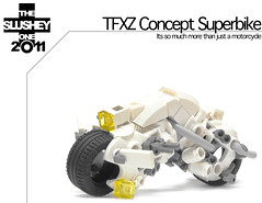 TFXZ concept superbike (The Slushey One) Tags: white bike one model lego super future hart turtlez futuristic 2011 bikesex somuchwin slushey ifuckinglovethis kyleslusheyftw ohgodthisisamazing greeblism isyummeh