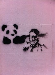 IMG_0451 (hopkinXIII) Tags: black brick wall graffiti stencil panda hitler lynn kings pow