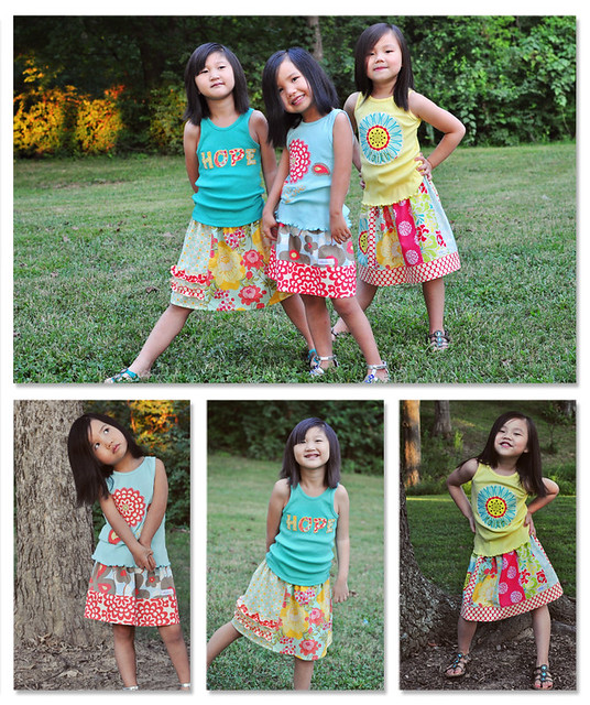 Faith Hope and Love Skirts Collage