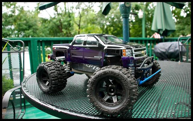 black purple 4x4 chevy silverado stampede traxxas desperado 2500hd proline vxl trenchers borderfx