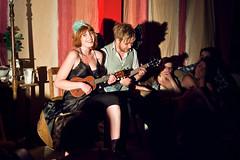 Amanda & Neil 'ninja' gig (chrisdonia) Tags: amanda up festival belt edinburgh theatre ninja neil fringe 11 palmer gaiman 2011 palmerneil gaimanbelt
