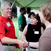 Chancellor Randy Woodson greeted incoming students and their families at the Legacy Luncheon.