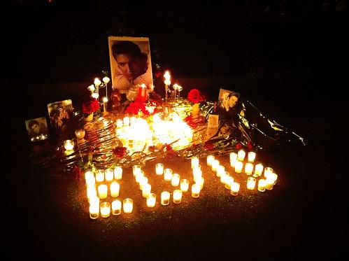 Shrine, Candle Light Vigil, Graceland, Memphis, Tenn.