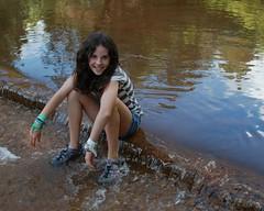 (HIRH_MOM) Tags: 2001 family camping summer arizona hot smile smiling creek swimming fishing cabin august swing familyfun summerfun payson rainbowtrout familyvacation smilinggirls 2011 catchingfish riverfishing eastverderiver paysonarizona outdoorfun waterswing gilrshavingfun
