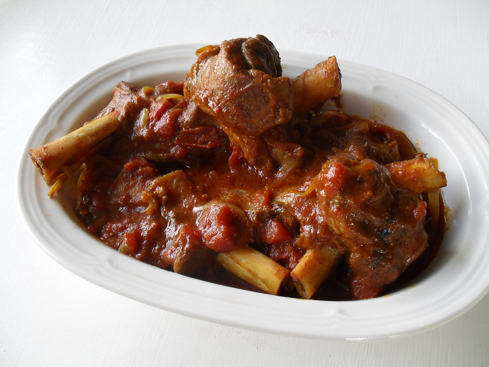 Slow cooked fusion lamb shanks