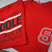 With a new name comes the opportunity for new t-shirt sales at the Poole College of Management's welcome week event at Nelson Hall.