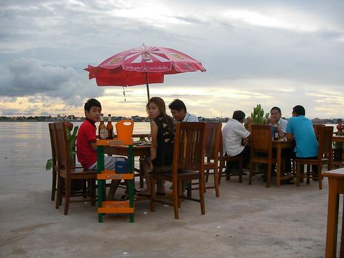 Terraza ederra Mekong alboan