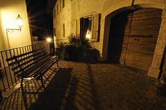 Night corner (Claudio Morlok) Tags: italy night nikon tripod wide tokina alpi notte lampioni trentino panchina d90 molveno 1116