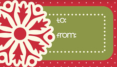 Red Snowflake Gift Tag