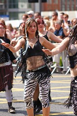 RockIt! Belly Dance - The First Manchester Day Parade, July 2010 (RockIt Belly Dance) Tags: show charity uk costumes party england musician music rock metal training manchester fun drums photo dance costume video media energy exercise dancing northwest stage events watch gig goth performance guitars belts bellydancer dancer grace class arabic event entertainment bands talent egyptian arabia buy clubs bellydance teaching teachers fitness performers salford powerful showcase learn choreography poise hire rockit talented bellydancers hafla entertain tuition classes troupe masterclass shimmy entertainers energetic aor manchesterdayparade