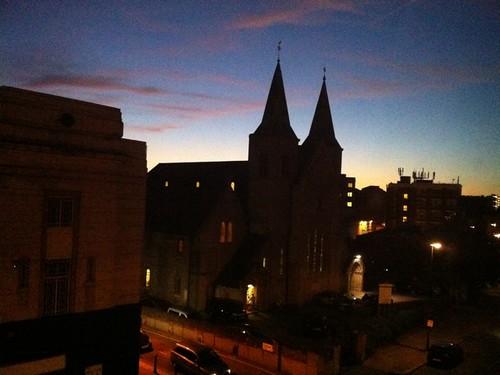 Nightfall in Kentish Town by flaviomatani