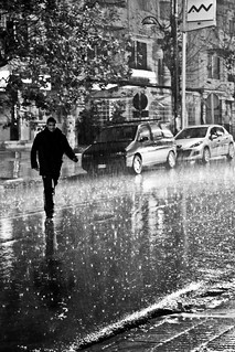 It doesn't rain it pours (Morocco Black & White Edit)