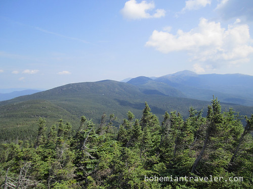 view towards Mt. Eisenhower and Mt. Washington