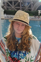 Breana (Calsurferboy) Tags: vegas pool hat lasvegas nevada breana 2011 parispool breanadanielschnobrich