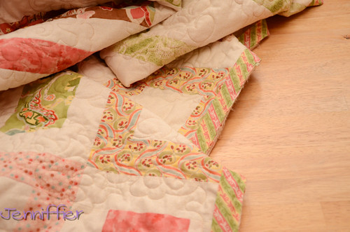 Posh quilt with binding