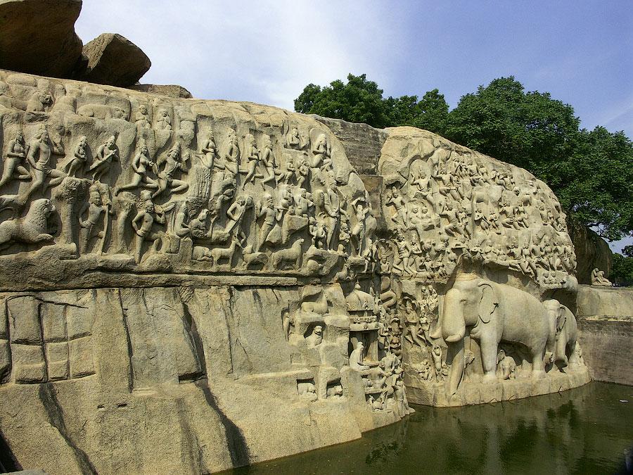 Раскаяние Арджуны или происхождение реки Ганга. Мамаллапурам (Махабалипурам), Индия © Kartzon Dream - авторские путешествия, авторские туры в Индию, тревел видео, фототуры