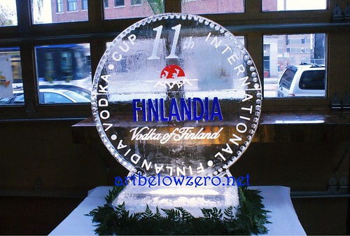 Finlandia Vodka Cup ice sculpture